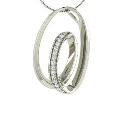 9c10598aa89 VVS Diamond and Diamond Necklace in 14k White Gold - Abonia