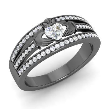 4037e793ce Akka Ring with Heart cut VS Diamond, SI Diamond | 0.55 carat Heart ...