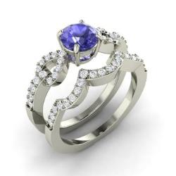 Bridal Ring Set Tanzanite Tanzanite Engagement Ring Set Diamondere