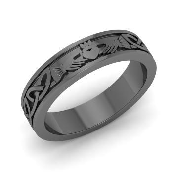 Ariona Men S Wedding Band Men S Rings In 18k Black Gold Diamondere