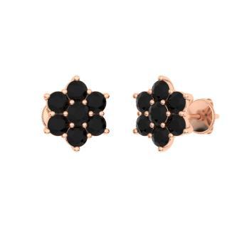 8de432cfe Rose Gold Black Stone Stud Earrings - Image Of Earring