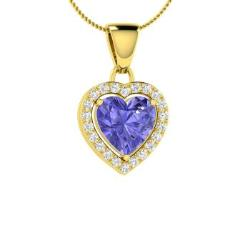 Tanzanite necklaces in 10k yellow gold tanzanite pendants in tanzanite and diamond necklace in 10k yellow gold beleza aloadofball Images