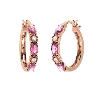 2fd200b47 Bella Earring with Oval Pink Tourmaline, SI Diamond   1.47 carat ...