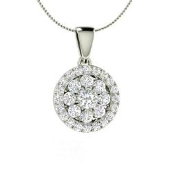 9fbf3e5a81c VVS Diamond Necklace in 14k White Gold with Diamond - Bence