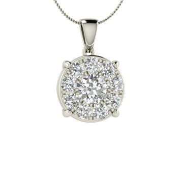 Birtle Necklace With Round Si Diamond Vs Diamond 0 87