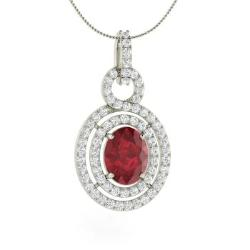 Unique necklaces unique pendants for women diamondere ruby and diamond unique necklace in 14k white gold delilah aloadofball Gallery