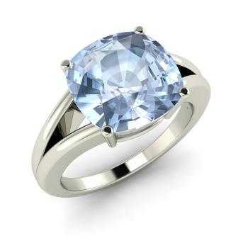 Donella Engagement Ring With Cushion Cut Aquamarine 3 85 Carat