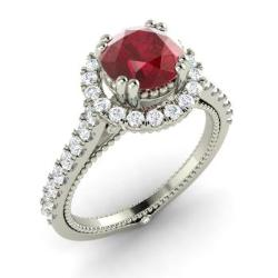 Ruby Engagement Rings For Women July Birthstone Engagement Rings