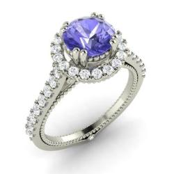 tanzanite half diamond bezel engagement rings products dust grades star ring