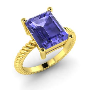 buy tanzanite big emerald detail men solid cool gold in cut wedding ring s product
