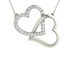 6398d6c6111 VVS Diamond Necklace in 14k White Gold - Eleanor