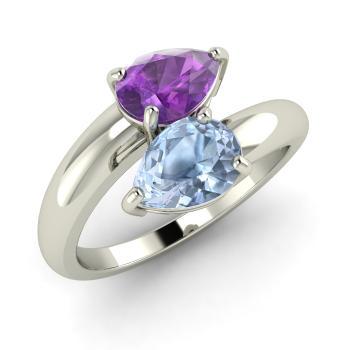 Eleazar Ring With Pear Cut Amethyst Aquamarine 1 22