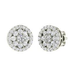 Diamond Earrings In 14k White Gold With Vs Elisha