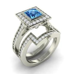 silver december wedding blue topaz with rings birthstone claddagh ring