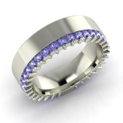tanzanite ring in 14k white gold 12 cttw eloise - Tanzanite Wedding Rings