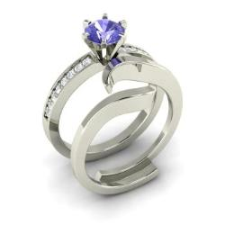 Tanzanite Engagement Rings For Women December Birthstone