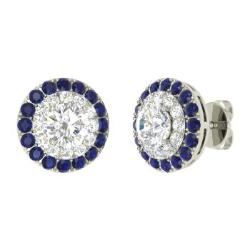 earrings sapphire amazon cheater plugs com rhinestone fake dp body mens