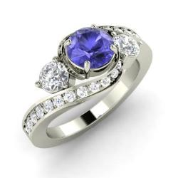 white p rings sorrow rose ct and product engagement solitaire gold ring tanzanite love skull