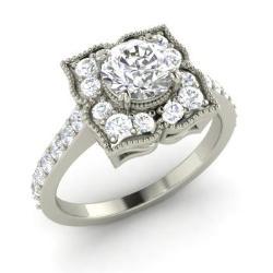 VVS Diamond Engagement Rings For Women April Birthstone Engagement