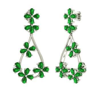 Eve Earring with Pear cut Emerald | 10.5 carat Tear Drop Emerald ...