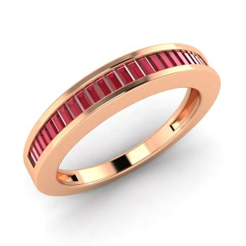 Evita ring with baguette cut ruby 036 carat baguette ruby wedding baguette ruby wedding ring in 14k rose gold junglespirit Image collections