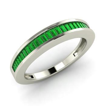 Emerald Wedding Band.Evita