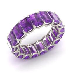amethyst ring in 14k white gold 867 cttw ewan - Amethyst Wedding Rings