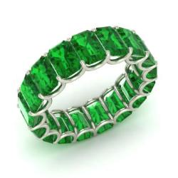 front ring platinum split gemstone izabel shank cushion rings cut emrald emerald preview