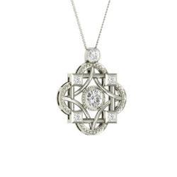 790a4b389f2 VVS Diamond Necklace in 14k White Gold with VS Diamond