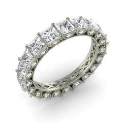 vs diamond and diamond wedding ring in 14k white gold 364 cttw - Engagement Rings Vs Wedding Ring