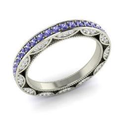 Tanzanite Wedding Ring Tanzanite Wedding Band Diamondere