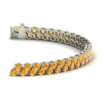Sterling Silver Citrine Tennis Bracelet