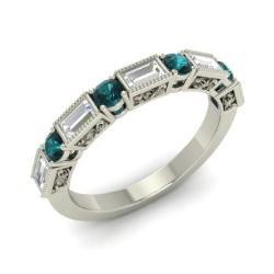 Blue Diamond And Vs Ring In 14k White Gold Halle