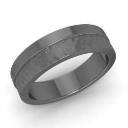 mens wedding band in 14k black gold jake - Black Gold Wedding Ring