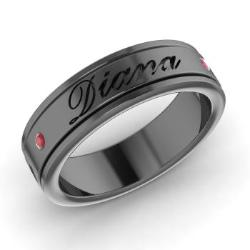 Mens Wedding Bands in Black Gold Mens Rings in Black Gold