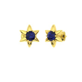 9806881bb Jessamine Earring with Round Sapphire | 0.4 carat Round Sapphire ...