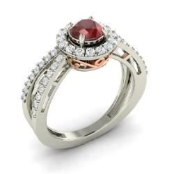 Garnet unique engagement rings for women january for Garnet wedding ring meaning