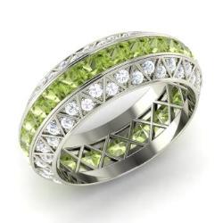Peridot Wedding Ring Peridot Wedding Band Diamondere