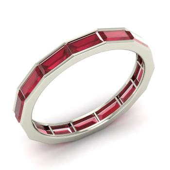 Lance Ring with Emerald cut Ruby 72 carat Rectangle Ruby