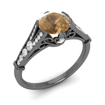 on diamond jewelrypoint images pinterest diamonds rings solitaire champagne best engagement brown ring