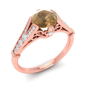 loose yellow jewelry rings lively brown stone e cut diamond index ring radiant fancy halo