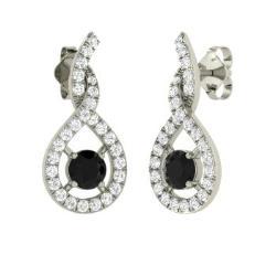Black Diamond Earrings For Women Diamondere