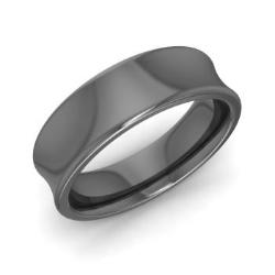Men S Wedding Band In 14k Black Gold Louisa