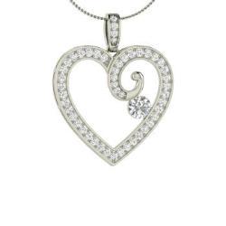 2eccc5514ce VVS Diamond and Diamond Necklace in 14k White Gold - Lyssa