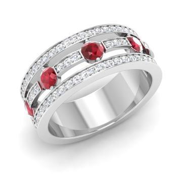 Ruby Wedding Rings.Maci