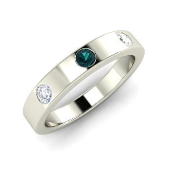 Blue Diamond Mens Wedding Band | Marvel Men S Ring With Round Blue Diamond Si Diamond 0 33 Carat