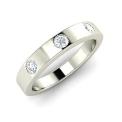 Diamond Menu0027s Ring In 14k White Gold   Marvel