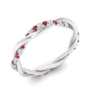 Ruby Wedding Rings.Mason