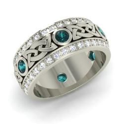 Blue Diamond Rings For Women Diamondere