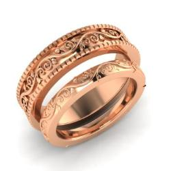 Rose Gold Couples Band Diamondere
